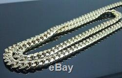 10K Yellow Gold Mens Necklace Miami Cuban Link Chain 6mm 22 inch Box Clasp REAL