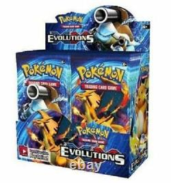 10 XY EVOLUTIONS Booster Pack Lot Factory Sealed From Box Pokemon Cards