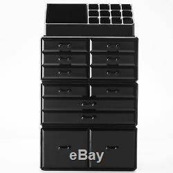 12-Drawers Makeup Cosmetic Jewelry Organizer Display Boxes Case Large Storage