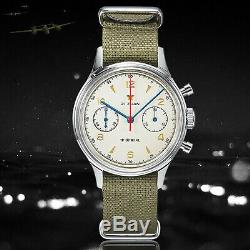 1963 Official Seagull Watch Sapphire Glass with retail box Mechanical Chronograph