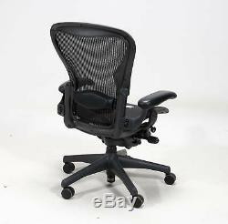 1 Herman Miller Fully Loaded Size C Aeron Chairs Open Box
