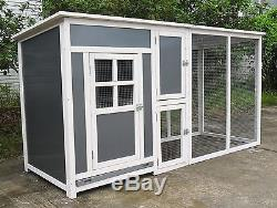 78 Wood & Plastic Hen Chicken Duck poultry Run House Coop Cage Nesting boxe