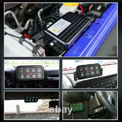 8 Gang Switch Panel Electronic Relay System Fuse Relay Box Marine Boat ATVs UTVs