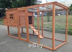 95 Wood Hen Chicken Duck poultry Run Hutch House Coop Cage with nesting boxes