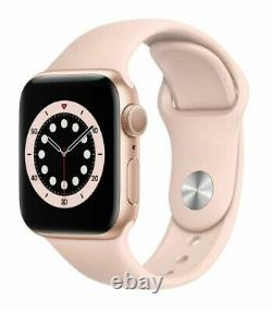 Apple Watch Series 6 40mm Gold Case Pink Sand Sport Band (GPS) PRISTINE IN BOX