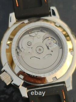 Automatic Sea Monster Watch, Norsk, Norway, Diver, Seiko NH36a movement. Orange