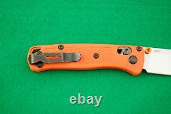 Benchmade 533 Mini Bugout, Cpm-s30v, Axis Lock, Orange Handle, New In Box