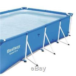 Bestway 157 x 83 x 32 Rectangular Frame Above-Ground Swimming Pool (Open Box)