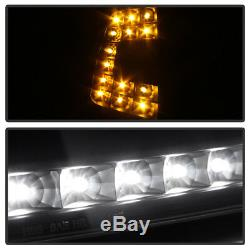 Blk 1997-2003 Ford F150 Expedition Headlights with DRL LED Corner Signal Headlamps