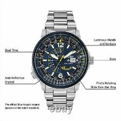 CITIZEN PROMASTER SKY BLUE ANGELS BJ7006-64L Eco-Drive Watch Extra Leather Strap