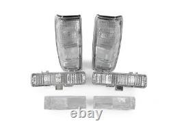COMBO DEPO Clear Tail+Corner+Bumper Signal Lights For 1982-1993 Chevy S-10 S10