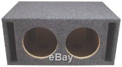 Car Stereo Dual 15 Slot Ported Subwoofer Labyrinth SPL Bass Speaker Sub Box