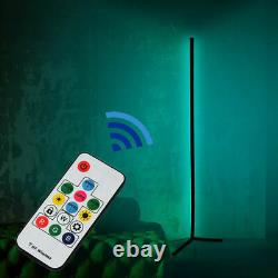 Colour Changing RGB Mood Lighting Metal LED Corner Floor Wall Lamp With Remote A