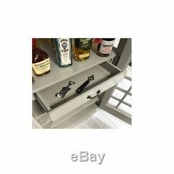 Drinks Cabinet Iconic BT Telephone Box Style Bar in Stone Grey