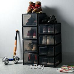 Drop-Front High Shoes Box Stackable Sneaker Container Large Storage For AJ