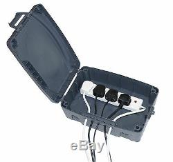 E804B Outdoor Waterproof 4 Plug Masterplug IP54 Rated Electrical Connection Box