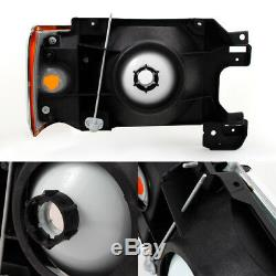 Fit 87-91 Bronco F-Series Truck Headlights with Amber Corner Signal Replacement