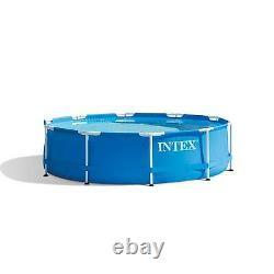 Intex 10' x 30 Metal Frame Set Swimming Pool with Filter Pump 28201EH (Open Box)