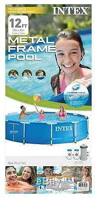 Intex 12 x 30 Metal Frame Set Swimming Pool with Filter Pump 28211EH (Open Box)