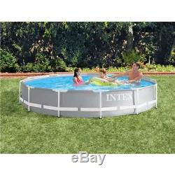 Intex 12' x 30 Prism Frame Above Ground Pool with 530 GPH Filter Pump (Open Box)