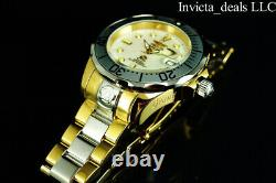 Invicta Men's 47mm GRAND DIVER AUTOMATIC MOP Dial Gold Two Tone 300M SS Watch