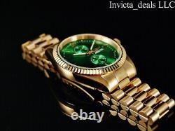 Invicta Mens Specialty JUBILEE Quartz Green Dial Rose Tone Stainless Steel Watch