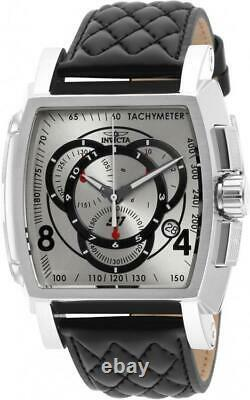 Invicta S1 Rally 15789 Men's Tonneau Analog Chronograph Date Leather Watch