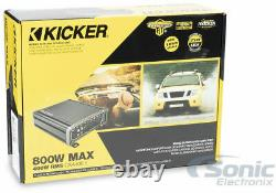 KICKER 43DC122 Dual 12 Subwoofers In Vented Sub Box Enclosure+Amplifier+Amp Kit