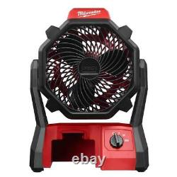 Milwaukee 0886-20 M18 18V 2,350-Rpm Adjustable Jobsite Fan withAdapter Bare Tool
