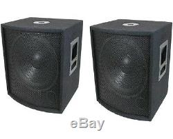 NEW (2) 12 SUBWOOFER Speakers PAIR. Woofer Sub box. DJ. PA. BASS woofers. Pro Audio