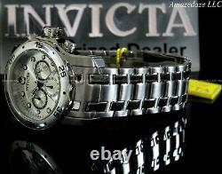 NEW Invicta Men Pro Diver Scuba VD53 Chronograph Stainless St. SILVER DIAL Watch