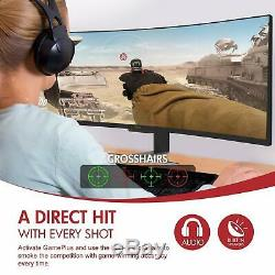 Open Box VIOTEK SUW49C 49-Inch Super Ultrawide 329 Curved Monitor with Speakers