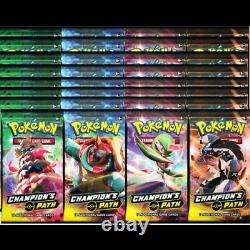 Pokemon Champion's Path Box 36 Booster Pack Lot IN-HAND READY TO SHIP Cards