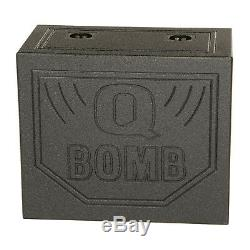 QPower QBOMB10TB Dual 10 Inch Triangle Ported Subwoofer Box with Bedliner Spray