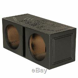 QPower QBOMB10V Dual 10 Inch Vented Port Subwoofer Sub Box with Bedliner Spray