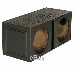 QPower QBOMB12V Dual 12 Vented Ported Subwoofer Sub Box with Bedliner Spray