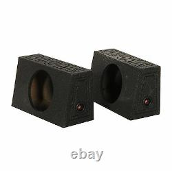 Q Power QBomb Single 12 Inch Sealed Subwoofer Sub Boxes Bedliner Spray, 2-Pack