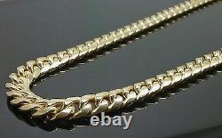 REAL 10K Yellow Gold Miami Cuban Link Chain Necklace 7mm 28 Inch BOX LOCK