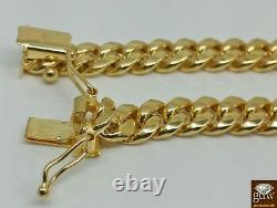 Real 14k Gold Cuban Link Chain Necklace 6mm 28 Box Lock 14kt yellow Gold cuben