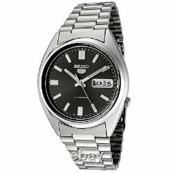 Seiko 5 Mens Automatic Watch SNXS79 with Black Dial and Silver Stainless Stee