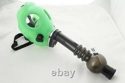 Silicon Gas Mask Bong Hookah Smoking Solid GREEN Color Mask with Gift Box USA