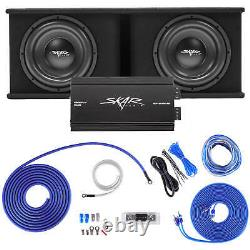 Skar Audio Dual 12 2400w Sdr Complete Bass Pkg Loaded Sub Box Amp Wire Kit